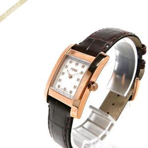 フェンディ FENDI レディース腕時計 クラシコ ダイヤモンド レクタング ル ホワイトパール×ブラウン F704242D [在庫品]|brandol