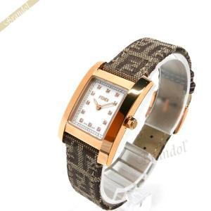 フェンディ FENDI レディース腕時計 クラシコ ダイヤモンド レクタング ル ホワイト×ゴールド F704242DF [在庫品]|brandol