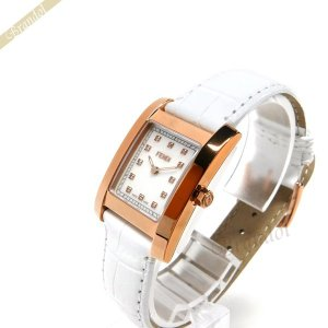 フェンディ FENDI レディース腕時計 クラシコ ダイヤモンド レクタング ル ホワイトパール×ホワイト F704244D [在庫品]|brandol