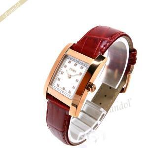 フェンディ FENDI レディース腕時計 クラシコ ダイヤモンド レクタングル ホワイトパール×レッド F704247D [在庫品]|brandol