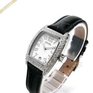 フォリフォリ Folli Follie レディース腕時計 ラインストーン トノー型 ホワイト×ブラック S922ZI SLV/BLK [在庫品]|brandol