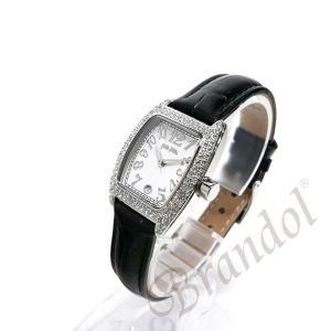 フォリフォリ Folli Follie レディース腕時計 ラインストーン トノー型 ホワイト×ブラック S922ZI SLV/BLK [在庫品]|brandol|02