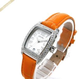 フォリフォリ Folli Follie レディース腕時計 ラインストーン トノー型 ホワイト×オレンジ S922ZI SLV/ORG [在庫品]|brandol