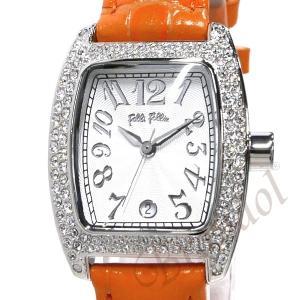 フォリフォリ Folli Follie レディース腕時計 ラインストーン トノー型 ホワイト×オレンジ S922ZI SLV/ORG [在庫品]|brandol|03