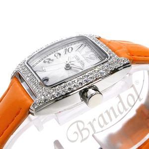 フォリフォリ Folli Follie レディース腕時計 ラインストーン トノー型 ホワイト×オレンジ S922ZI SLV/ORG [在庫品]|brandol|04