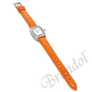 フォリフォリ Folli Follie レディース腕時計 ラインストーン トノー型 ホワイト×オレンジ S922ZI SLV/ORG [在庫品]|brandol|05