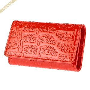 フォリフォリ Folli Follie キーケース レディース ロゴ エンボス 4連 レッド WA0L034SR RED [在庫品]|brandol