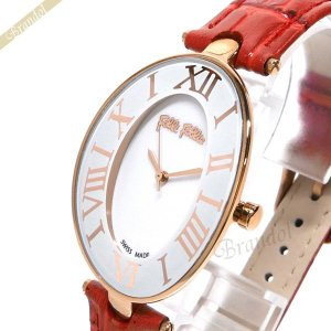 フォリフォリ Folli Follie レディース腕時計 ロマンス ホワイト×レッド WF14R025SPS RE|brandol