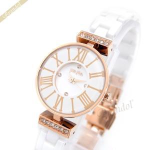フォリフォリ Folli Follie レディース腕時計 Winter Dream DYNASTY 26mm ホワイト×ローズゴールド WF15B028BSZ-XX [在庫品] brandol