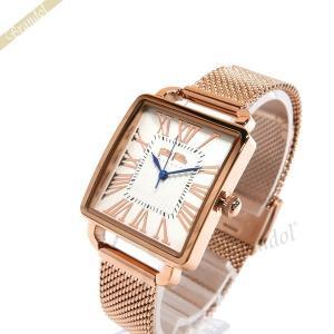 フォリフォリ Folli Follie レディース腕時計 レトロ スクエア ホワイト×ピンクゴールド WF16R012BPS-XX [在庫品]|brandol