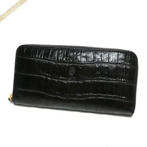 フェリージ Felisi 財布 メンズ ラウンドファスナー長財布 クロコ型押し エンボス レザー ブラック 125/SA 0003 BLACK [在庫品] brandol