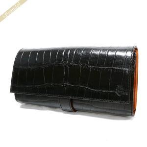 フェリージ Felisi 財布 メンズ 長財布 クロコ型押し エンボス レザー ブラック 3005/SA 0003 BLACK [在庫品] brandol