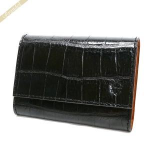 フェリージ Felisi 名刺入れ メンズ クロコ型押し エンボス レザー カードケース ブラック 450/SA 003 BLACK [在庫品]|brandol