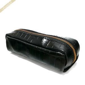 フェリージ Felisi メンズ ペンケース クロコ型押し エンボス レザー ブラック 724/SA 003 BLACK [在庫品] brandol