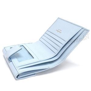 フェラガモ Ferragamo レディース 二つ折り財布 ガンチーニ レザー ライトブルー 22 C877 0683292 [在庫品]|brandol|04