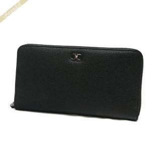 フェラガモ Ferragamo 財布 メンズ ラウンドファスナー長財布 レザー ブラック 66 9786 0589022 NERO [在庫品]|brandol