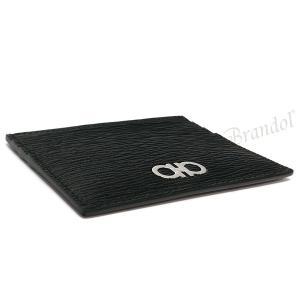 フェラガモ Ferragamo メンズ カードケース ガンチーニ レザー カード入れ ブラック×レッド 66 A302 0698914 [在庫品]|brandol|04