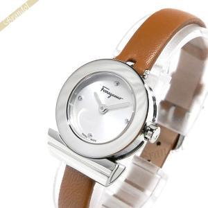 フェラガモ Ferragamo レディース 腕時計 Gancino ガンチーニ 23mm シルバー×ブラウン F43010017|brandol