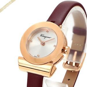 フェラガモ Ferragamo レディース腕時計 Gancino ガンチーニ ブレスレット 23mm シルバー×レッド F43020017 [在庫品]|brandol