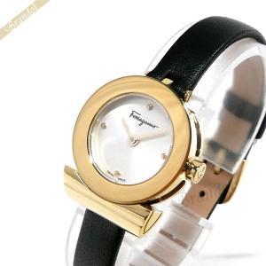 フェラガモ Ferragamo レディース 腕時計 Gancino ガンチーニ 23mm シルバー×ゴールド×ブラック F43030017 [在庫品]|brandol