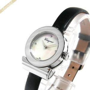 フェラガモ Ferragamo レディース腕時計 Gancino ガンチーニ 22mm ホワイトパール×ブラック F43050017 [在庫品]|brandol