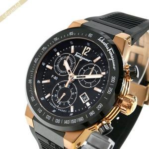 フェラガモ Ferragamo メンズ 腕時計 F-80 クロノグラフ 44m ブラック×ゴールド F55LCQ75909S113 [在庫品]|brandol