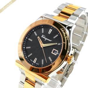 フェラガモ Ferragamo メンズ腕時計 38mm ブラック×ゴールド×シルバー F62LBQ9509S095-H [在庫品]|brandol