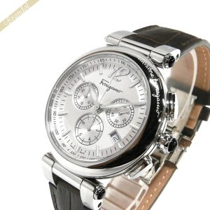 フェラガモ Ferragamo メンズ腕時計 IDILLIO クロノグラフ 42mm シルバー×ダークブラウン F77LCQ9902SB25-H [在庫品]|brandol