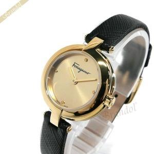 フェラガモ Ferragamo レディース 腕時計 MINIATURE 26mm ゴールド×ブラック FAT020017 [在庫品]