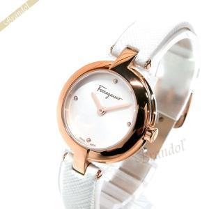 フェラガモ Ferragamo レディース 腕時計 MINIATURE 26mm ホワイト×ピンクゴールド FAT030017 [在庫品]|brandol