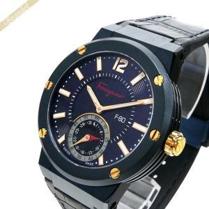 フェラガモ Ferragamo メンズ 腕時計 F-80 MOTION スマートウォッチ 44mm ネイビー FAZ010016 [在庫品]|brandol