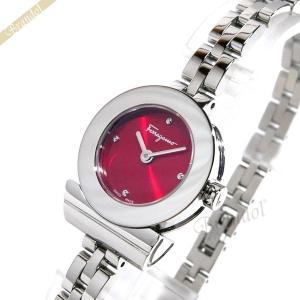フェラガモ Ferragamo レディース 腕時計 ガンチーニ ブレスレット 23mm レッド×シルバー FBF060017 [在庫品]|brandol