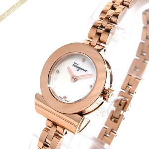フェラガモ Ferragamo レディース 腕時計 ガンチーニ ブレスレット 23mm ホワイトパール×ピンクゴールド FBF080017 [在庫品]|brandol