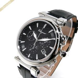 フェラガモ Ferragamo メンズ 腕時計 イディリオ クロノグラフ 42m ブラック×シルバー FCP010017 [在庫品]|brandol