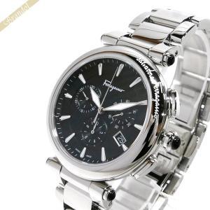 フェラガモ Ferragamo メンズ 腕時計 イディリオ クロノグラフ 42mm シルバー×ブラック FCP070017 [在庫品]|brandol
