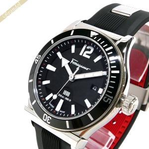 フェラガモ Ferragamo メンズ 腕時計 1989 デイト 42mm ブラック×シルバー FF3100014 [在庫品]|brandol