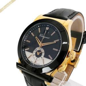 フェラガモ Ferragamo メンズ腕時計 1898 40mm ブラック×ゴールド FFO020017 [在庫品]|brandol