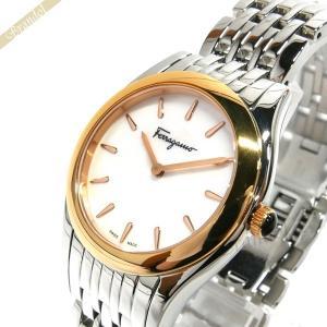 フェラガモ Ferragamo レディース腕時計 ガンチーニモチーフ 32mm ホワイトパール×シルバー FG4040014 [在庫品] brandol