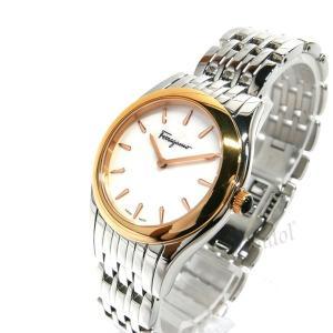 フェラガモ Ferragamo レディース腕時計 ガンチーニモチーフ 32mm ホワイトパール×シルバー FG4040014 [在庫品] brandol 02