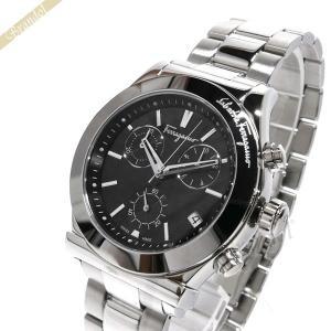 フェラガモ Ferragamo メンズ腕時計 Vega ベガ クロノグラフ 41mm ブラック×シルバー FH6010016 [在庫品]|brandol