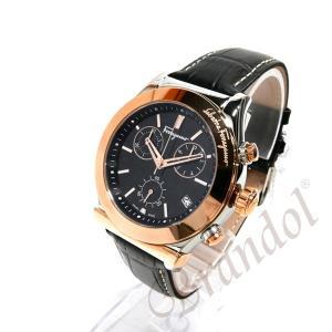 a67df626b2 41mm ブラック×ローズゴールド 腕時計 ベガ FH6030016 【ブランド】 Ferragamo フェラガモ Vega メンズ クロノ