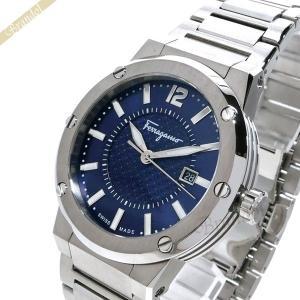 フェラガモ Ferragamo メンズ 腕時計 F-80 44mm ネイビー×シルバー FIF030015 [在庫品]|brandol