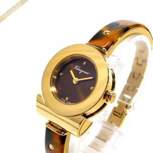 フェラガモ Ferragamo レディース 腕時計 ガンチーニ ブレスレット 25mm ブラウン×ゴールド FII020015 [在庫品]|brandol