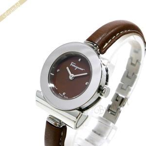 フェラガモ Ferragamo レディース 腕時計 Gancino ガンチーニ ブレスレット 26mm ブラウン×シルバー FII040015 [在庫品]|brandol