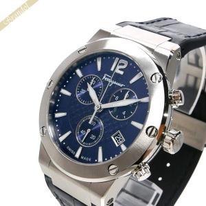 フェラガモ Ferragamo メンズ 腕時計 F-80 クロノグラフ 44m ネイビー×シルバー FIJ020017 [在庫品]|brandol