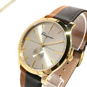 フェラガモ Ferragamo メンズ腕時計 スリム 40mm ゴールド×ブラウン SFDE00318 [在庫品]|brandol