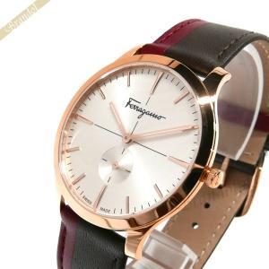 フェラガモ Ferragamo メンズ腕時計 スリム 40mm シルバー×ダークブラウン SFDE00618 [在庫品]|brandol