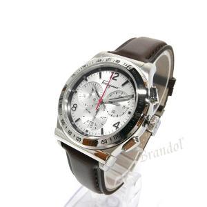 フェラガモ Ferragamo メンズ腕時計 クロノグラフ 42m シルバー×ブラウン SFDK00118 [在庫品]|brandol|02