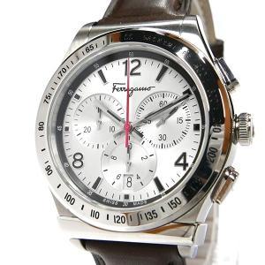 フェラガモ Ferragamo メンズ腕時計 クロノグラフ 42m シルバー×ブラウン SFDK00118 [在庫品]|brandol|03