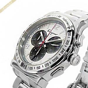 フェラガモ Ferragamo メンズ腕時計 クロノグラフ 42mm シルバー×ガンメタ SFDK00318 [在庫品]|brandol